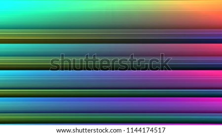Colorful Straight Horizontal Stripes Background Ribbon Stock