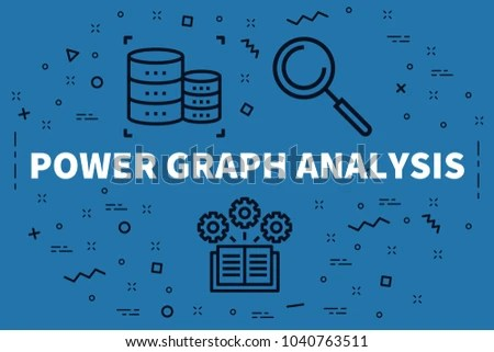 Conceptual Business Illustration Words Power Graph Stock