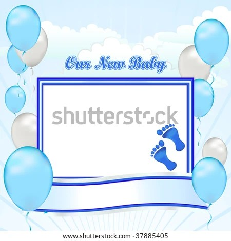Congratulations On Your New Baby Boy Stock Illustration 37885405