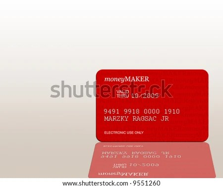 Credit Card Moneymaker Watermarks Copy Space Stock Illustration
