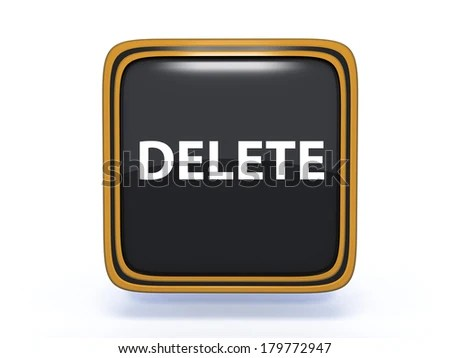 Delete Square Icon On White Background Stock Illustration 179772947
