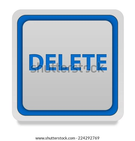 Delete Square Icon On White Background Stock Illustration 224292769