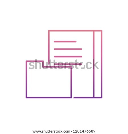 Document Library Icon Nolan Style One Stock Illustration - Royalty