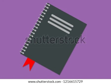 Drawing Business Agenda On Purple Background Stock Illustration