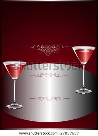 Drinks Menu Template Wine Glasses On Stock Illustration 27859639