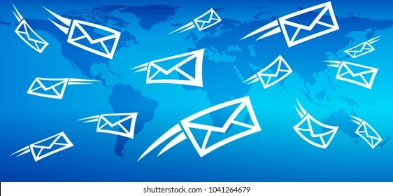 Email Background Concept Flying Mail SMS Stock Vector (Royalty Free - mail background