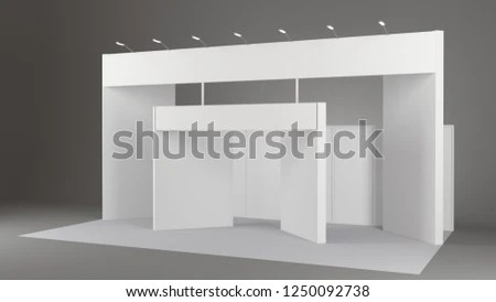 Fair Trade Booth Mockup Booth Template Stock Illustration 1250092738