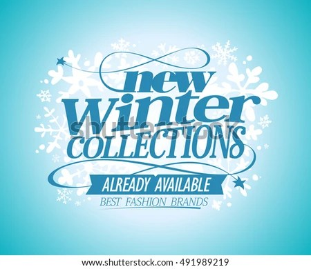Royalty Free Stock Illustration of Fashion Poster New Winter