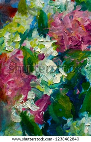 Flowers Paintings Monet Painting Claude Impressionism Stock