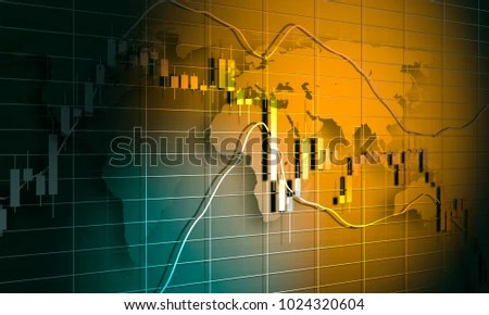 Forex Candlestick Pattern Trading Chart Concept Stock Illustration