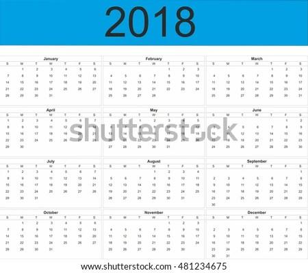 Royalty Free Stock Illustration of Full Year Calendar Stock