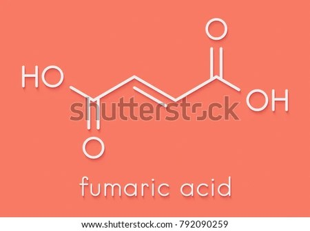 Royalty Free Stock Illustration of Fumaric Acid Molecule Found