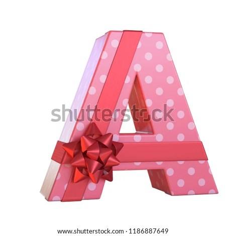 Gift Box Red Ribbon Bow 3 D Stock Illustration - Royalty Free Stock