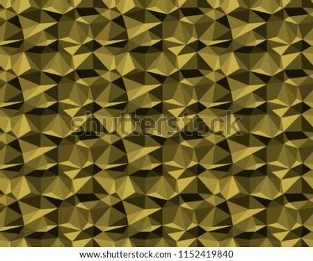 Gold On Black Geometric Facet Pattern Stock Illustration - Royalty