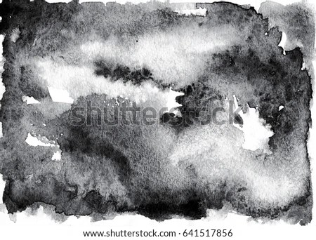 Royalty Free Stock Illustration of Gray White Black Watercolor