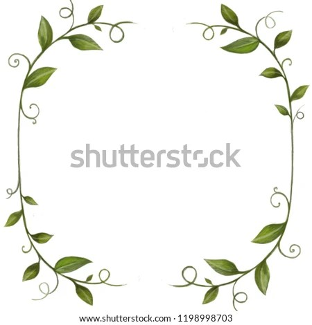 Royalty Free Stock Illustration of Hand Drawn Green Leaves Leaf