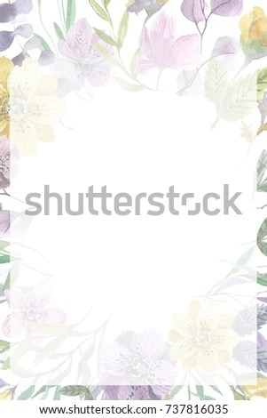Royalty Free Stock Illustration of Hand Painted Watercolor Wedding