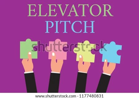 Handwriting Text Writing Elevator Pitch Concept Stock Illustration