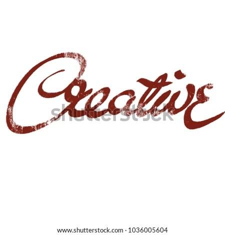 Handwritten Word Creative Stock Illustration - Royalty Free Stock
