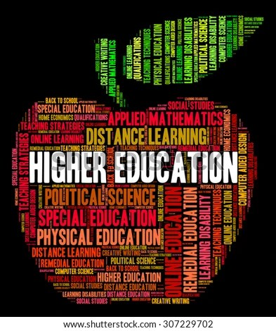 Higher Education Meaning Text Educated Word Stock Illustration