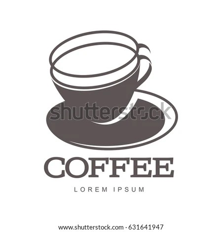Hot Cup Coffee Logo Templates Abstract Stock Illustration 631641947