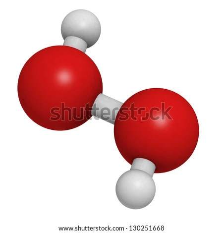 Hydrogen Peroxide H 2 O 2 Molecule Chemical Structure Stock
