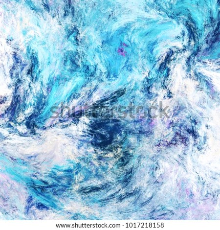 Icy Waves Blue Artistic Splashes Abstract Stock Illustration