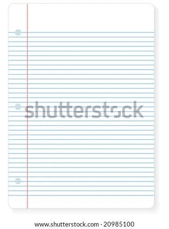 Illustration Sheet Notebook Lined Paper You Stock Illustration