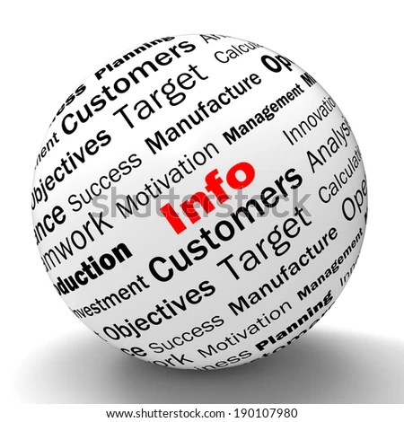 Info Sphere Definition Meaning Customer Service Stock Illustration