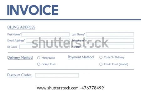 Invoice Billing Information Form Graphic Concept Stock Illustration