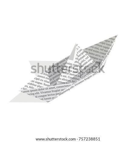 Royalty Free Stock Illustration of Isometric Paper Boat Isolated On