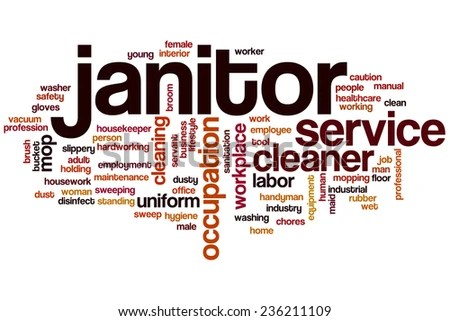 Janitor Word Cloud Concept Stock Illustration - Royalty Free Stock