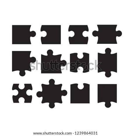 Royalty Free Stock Illustration of Jigsaw Puzzle Piece Template