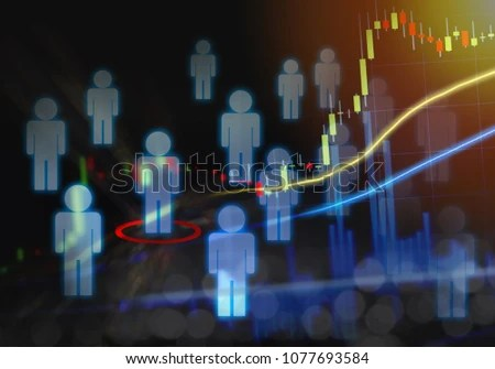 Job Candidate Search Career Position Unique Stock Illustration