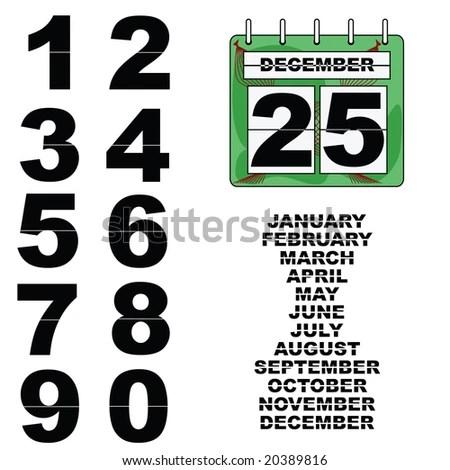 Jpeg Illustration Paper Wall Calendar Changeable Stock Illustration
