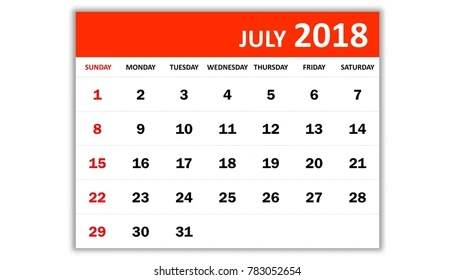 May 2018 Monthly Calendar 2018 Year Stock Illustration 783052651