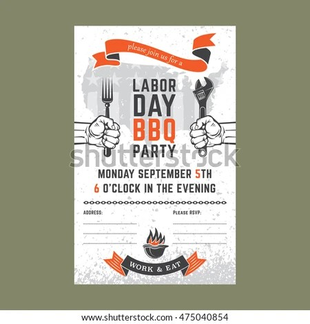 Royalty Free Stock Illustration of Labor Day BBQ Party Background