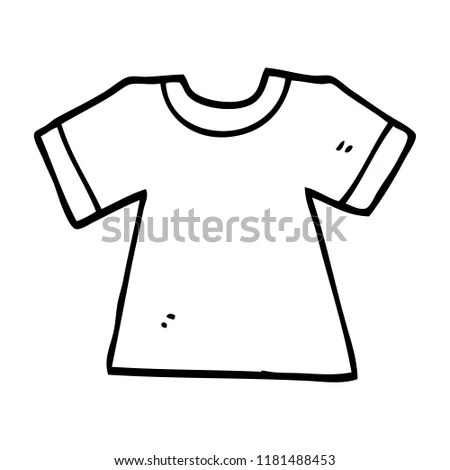 Line Drawing Cartoon Tee Shirt Stock Illustration 1181488453