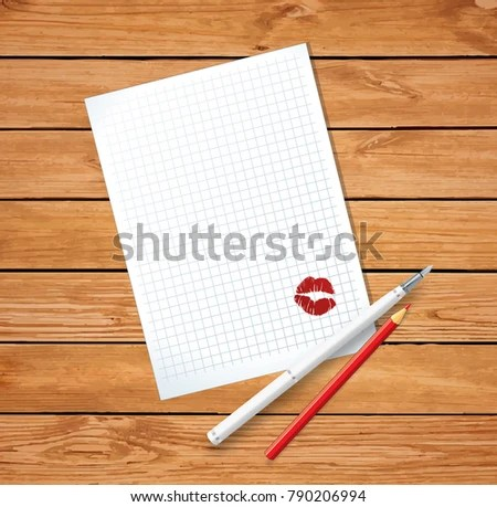 Love Letter On Valentines Day Clean Stock Illustration 790206994