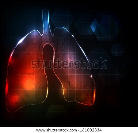 Lungs Abstract Medical Wallpaper Bright Bold Stock Illustration