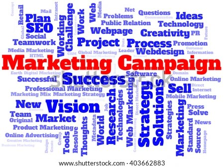 Marketing Campaign Word Cloud Stock Illustration - Royalty Free