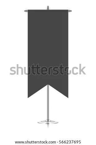 Medieval Style Banner Template Canvas Fabric Stock Illustration