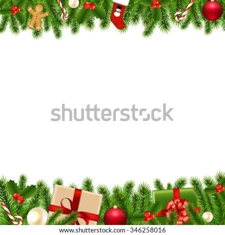 Royalty Free Stock Illustration of Merry Christmas Borders Stock