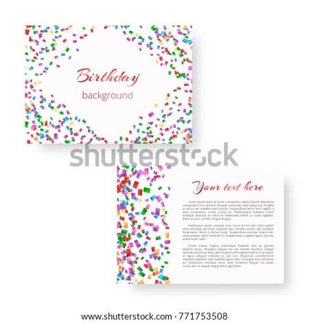 New Year Invitation Template Multicolored Paper Stock Illustration