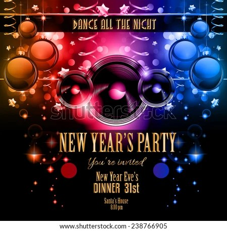 New Years Party Flyer Design Nigh Stock Illustration 238766905