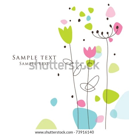 Nice Greeting Card Template Cute Simple Stock Illustration - Royalty