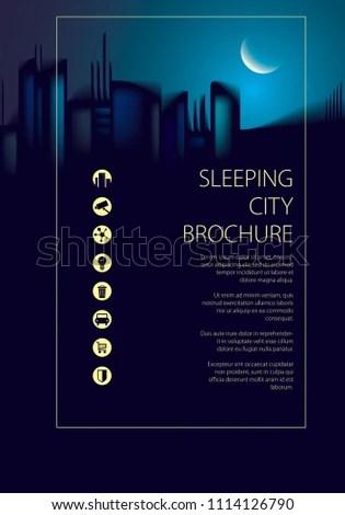 Royalty Free Stock Illustration of Night City Skyline Traveling
