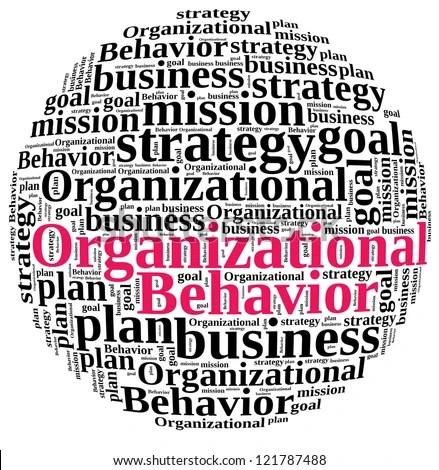 Organizational Behavior Word Cloud Stock Illustration 121787488