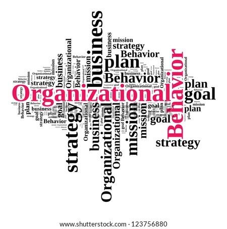 Organizational Behavior Word Cloud Stock Illustration - Royalty Free