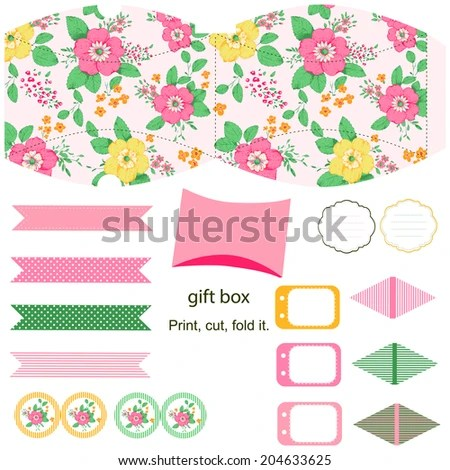Party Set Gift Box Template Abstract Stock Illustration 204633625